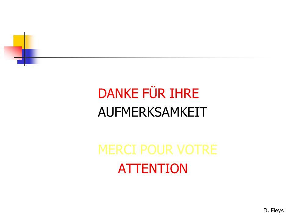DANKE FÜR IHRE AUFMERKSAMKEIT MERCI POUR VOTRE ATTENTION
