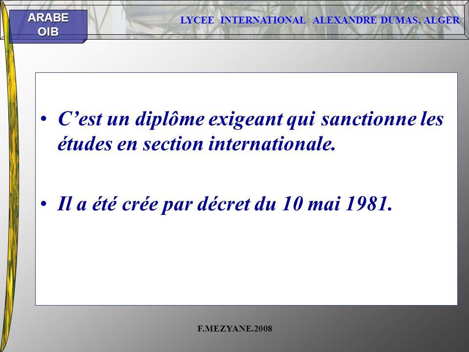 Il a été crée par décret du 10 mai 1981.