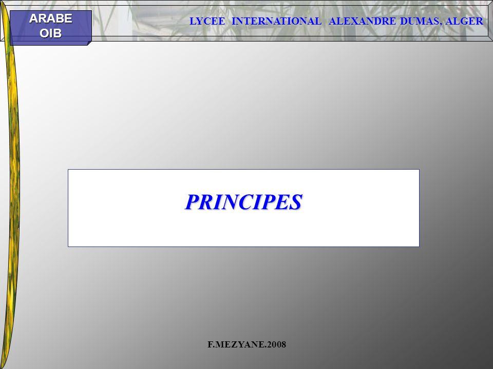 PRINCIPES F.MEZYANE.2008