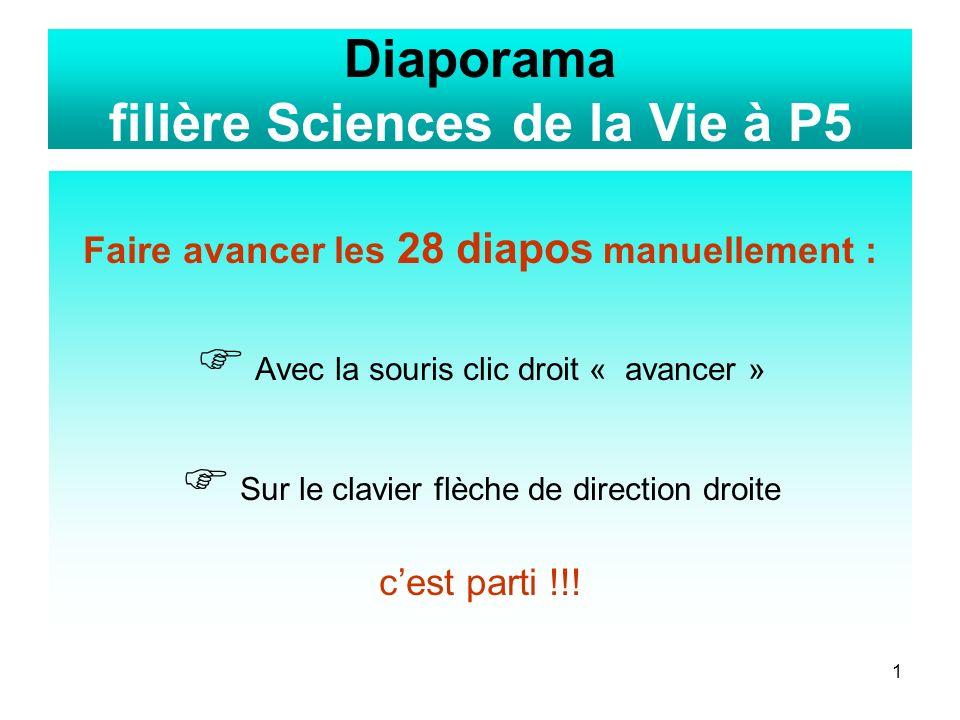 Diaporama filière Sciences de la Vie à P5