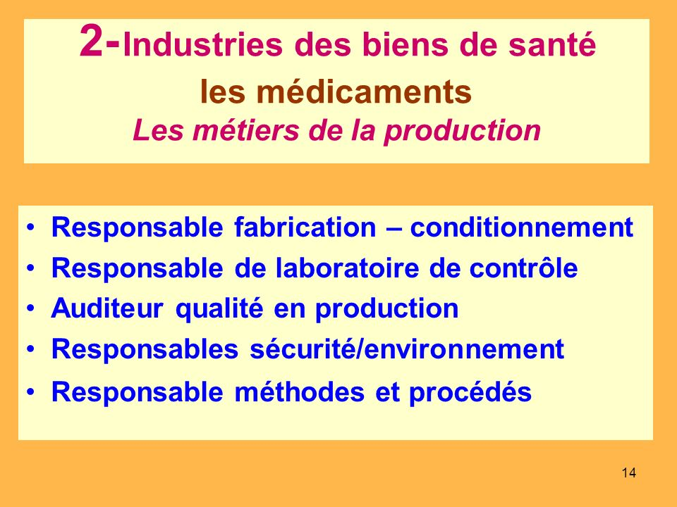 Responsable fabrication – conditionnement