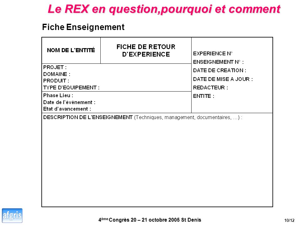 Le REX en question,pourquoi et comment