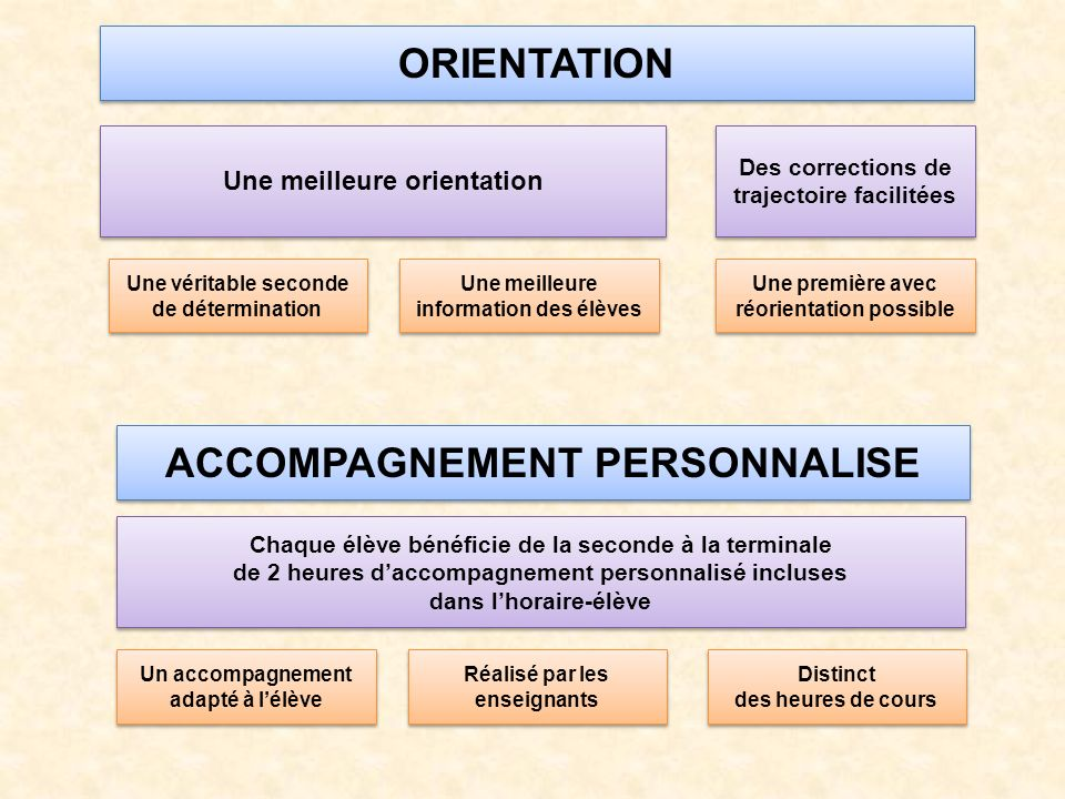 ORIENTATION ACCOMPAGNEMENT PERSONNALISE