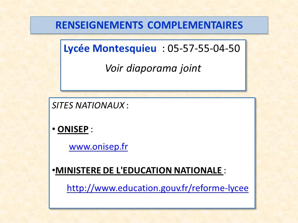 RENSEIGNEMENTS COMPLEMENTAIRES