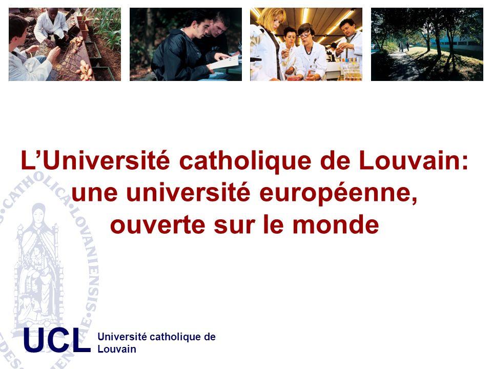 L'Université catholique de Louvain: une université européenne,