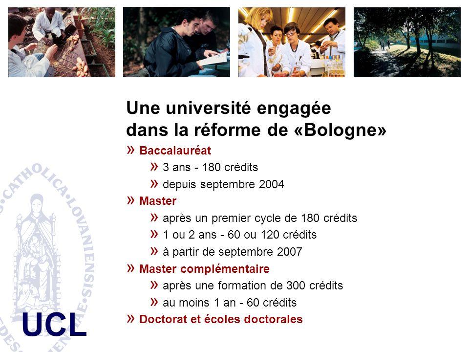 Une université engagée dans la réforme de «Bologne»