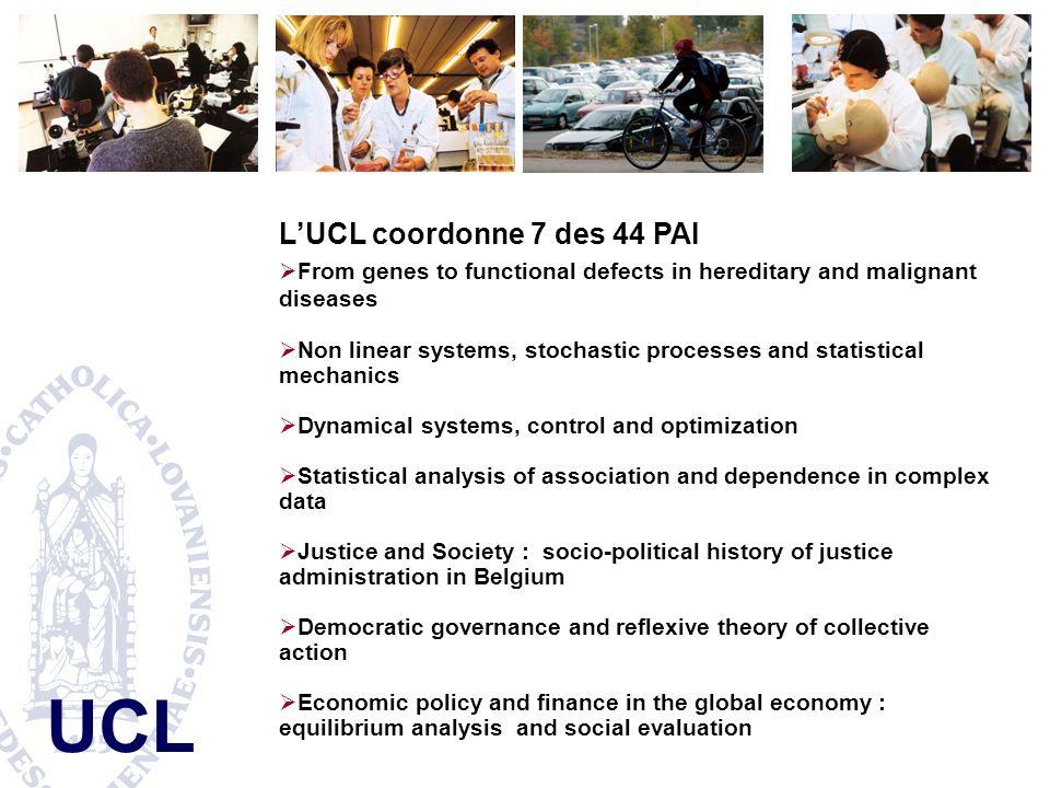 L'UCL coordonne 7 des 44 PAI