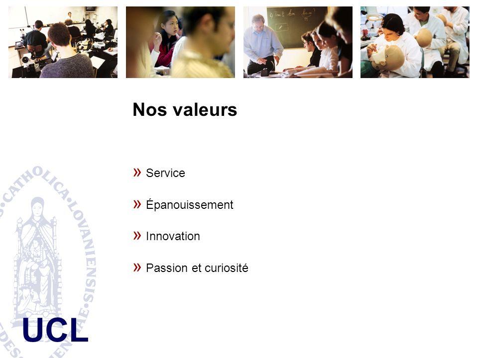 Nos valeurs Service Épanouissement Innovation Passion et curiosité