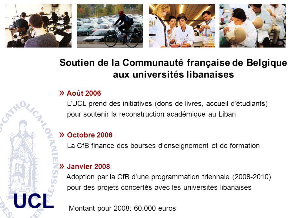 Soutien de la Communauté française de Belgique aux universités libanaises