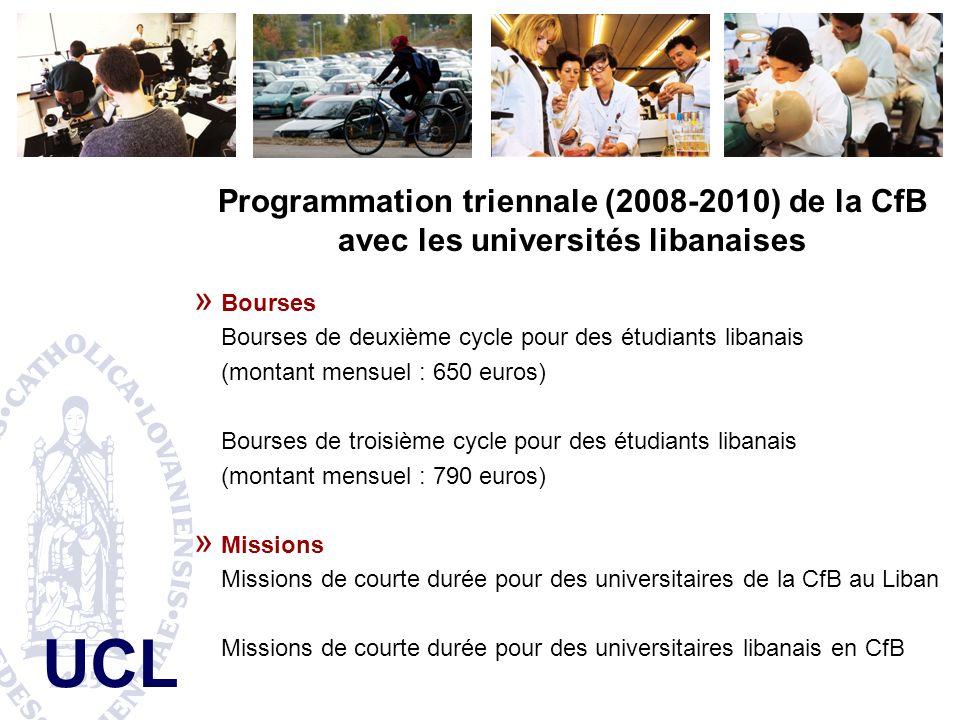 Programmation triennale (2008-2010) de la CfB avec les universités libanaises