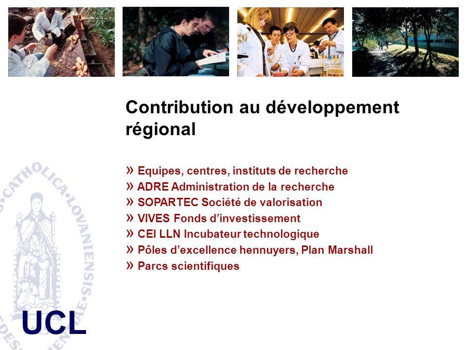 Contribution au développement régional