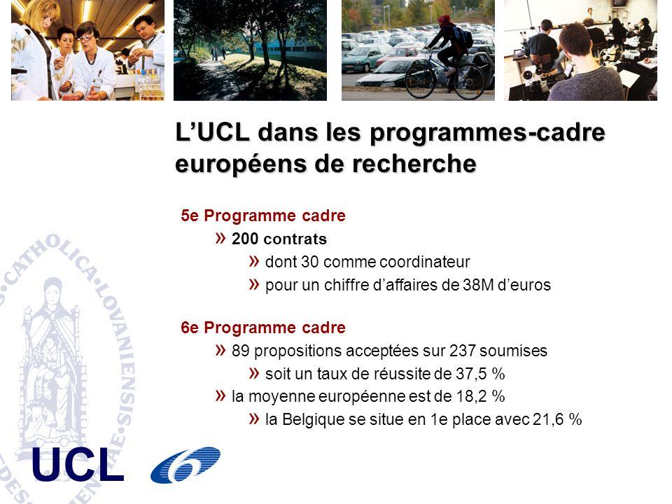 L'UCL dans les programmes-cadre européens de recherche