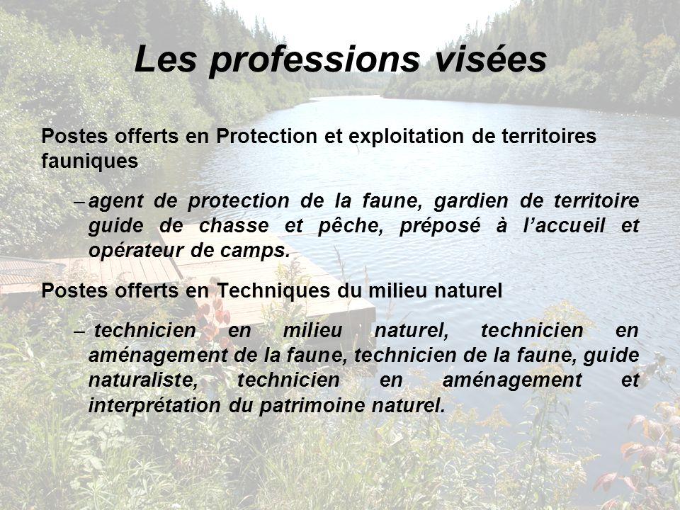 Les professions visées