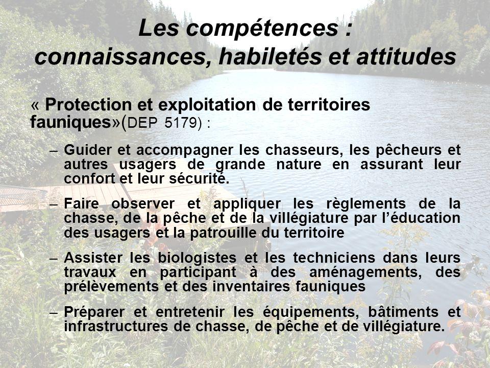 Les compétences : connaissances, habiletés et attitudes