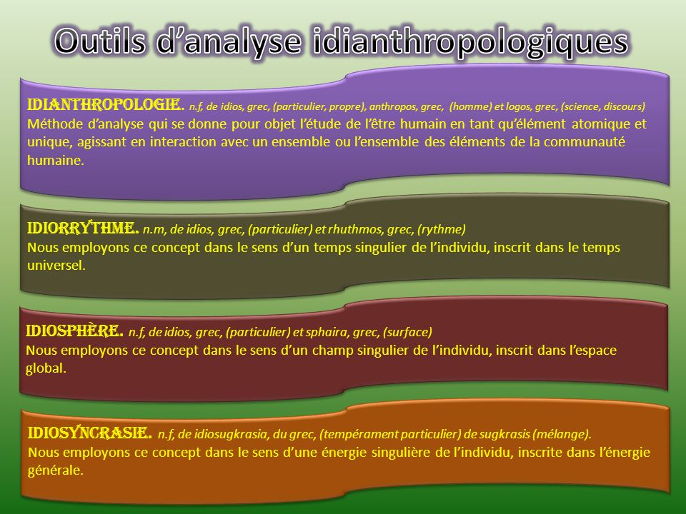 Outils d'analyse idianthropologiques