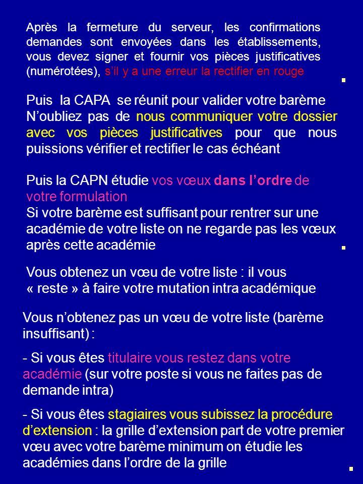 Puis la CAPA se réunit pour valider votre barème