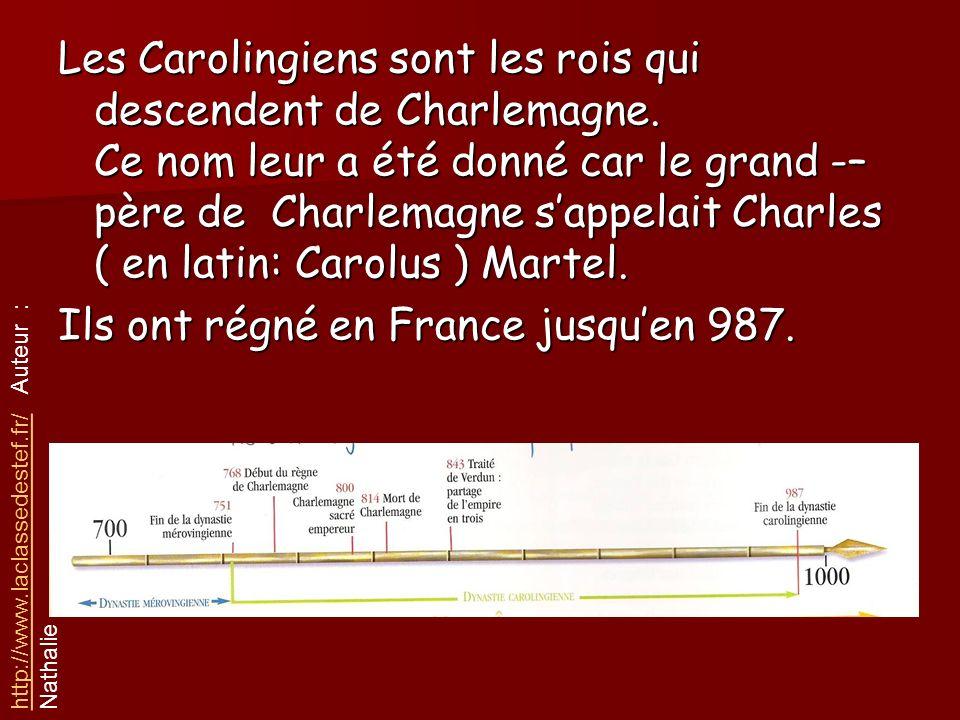Ils ont régné en France jusqu'en 987.