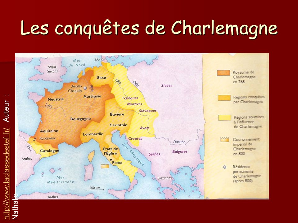 Les conquêtes de Charlemagne