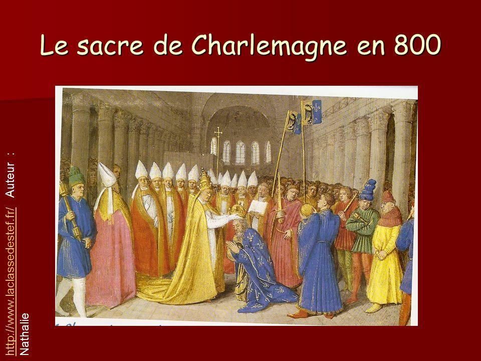 Le sacre de Charlemagne en 800
