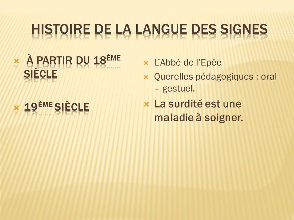 Histoire de la Langue des signes