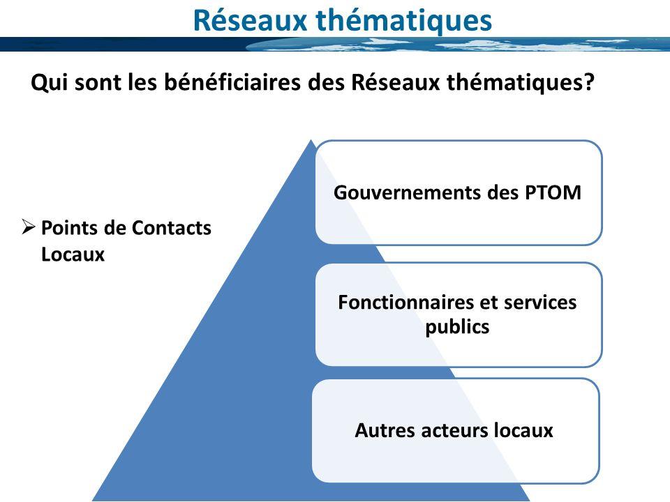 Gouvernements des PTOM Fonctionnaires et services publics