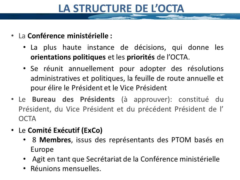 LA STRUCTURE DE L'OCTA La Conférence ministérielle :