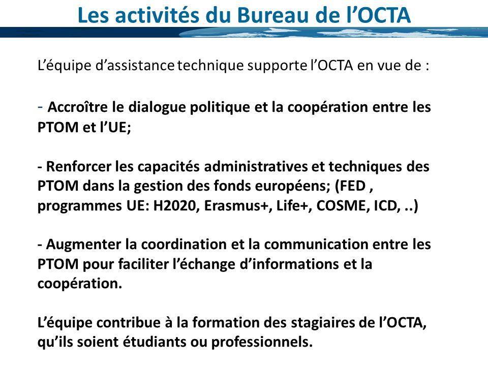 Les activités du Bureau de l'OCTA