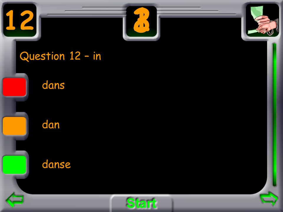 2 1 3 12 Question 12 – in dans dan danse