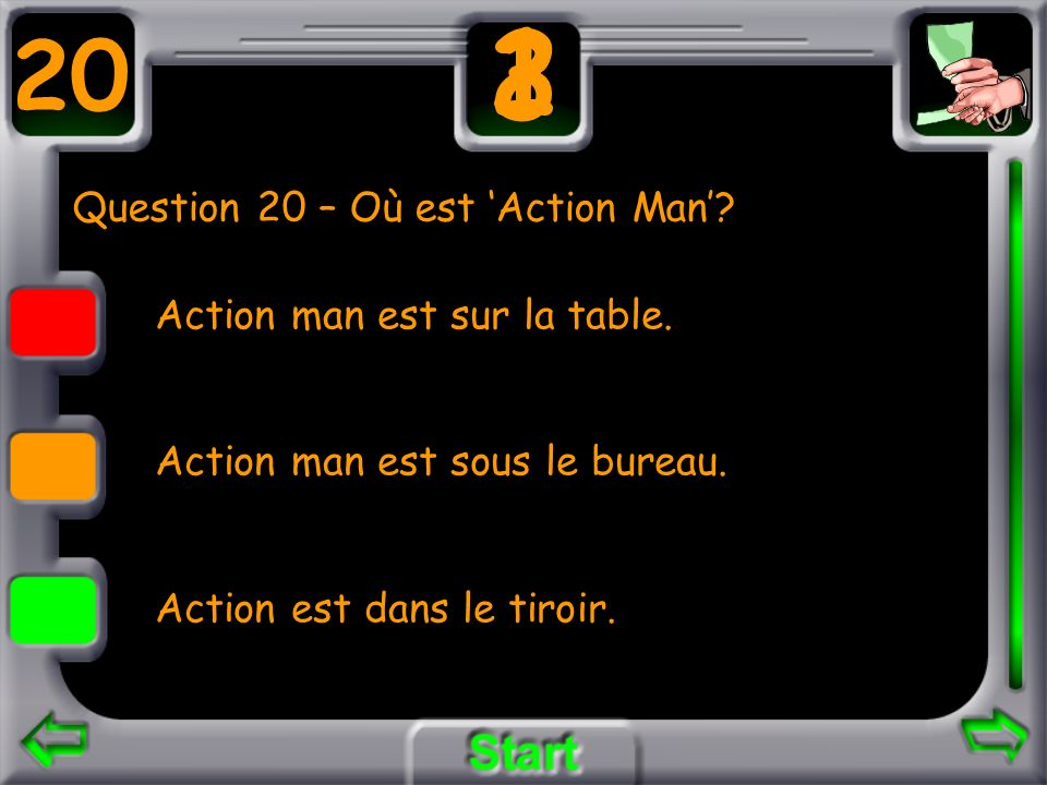 Question 20 – Où est 'Action Man'