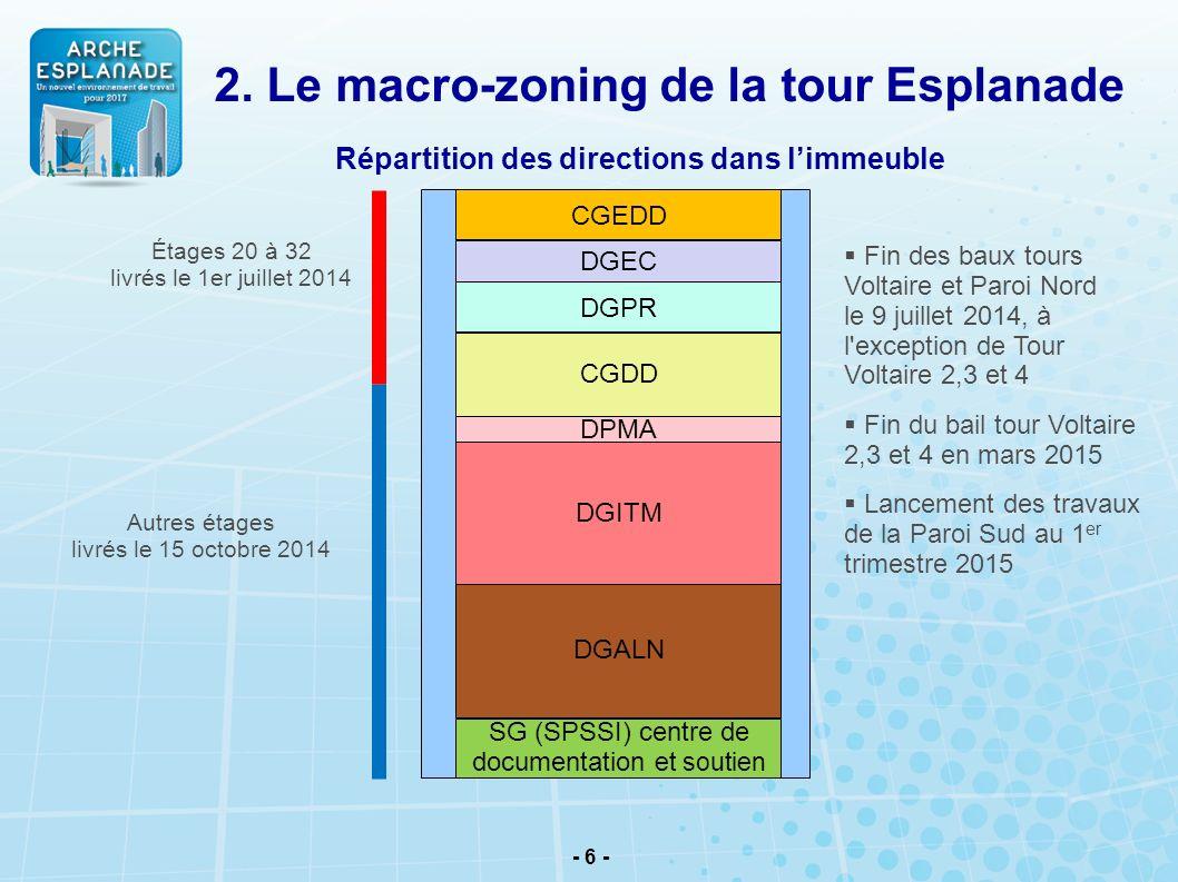 2. Le macro-zoning de la tour Esplanade