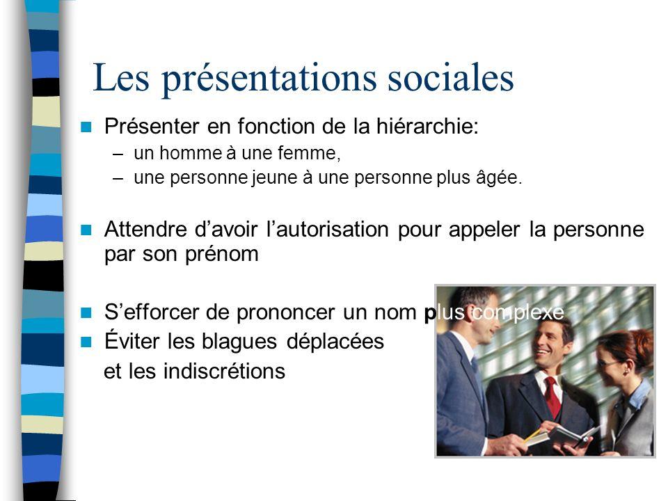 Les présentations sociales