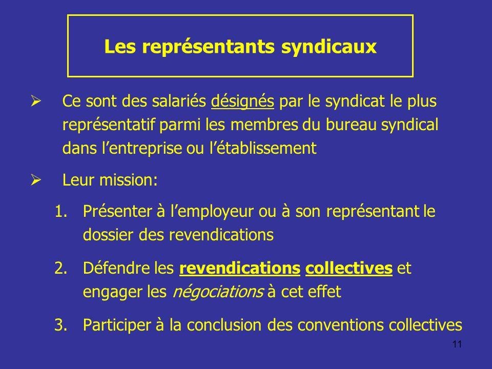 Les représentants syndicaux