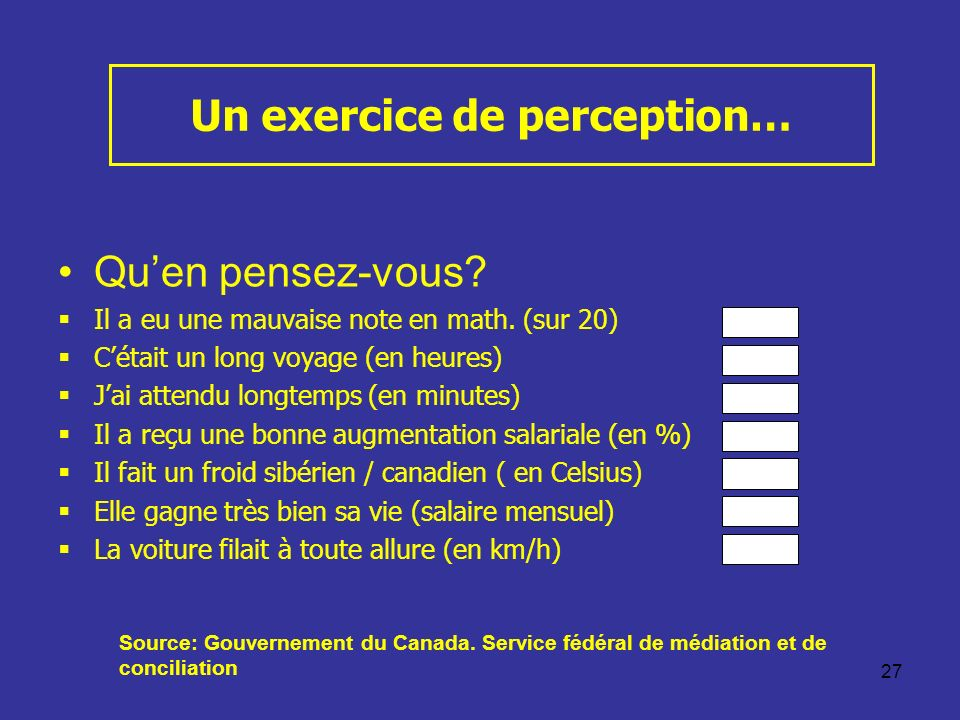 Un exercice de perception…