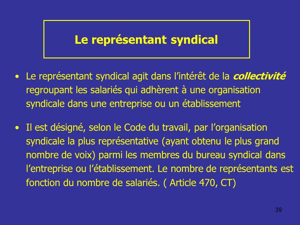 Le représentant syndical
