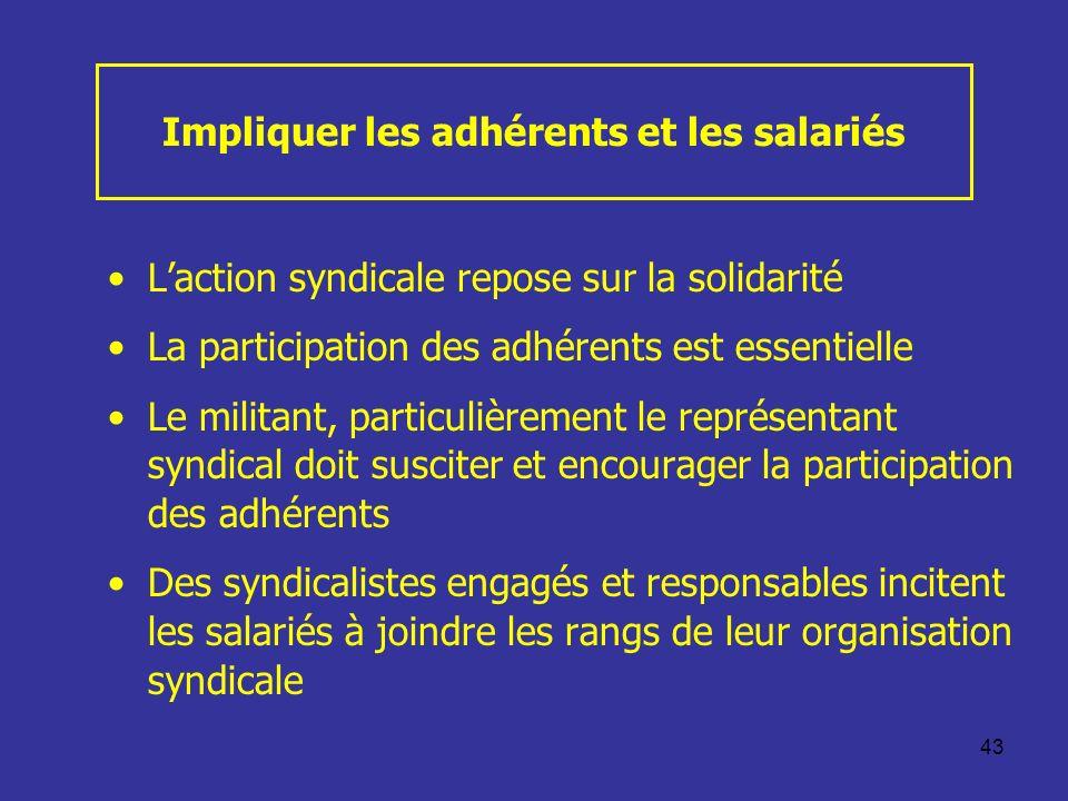 Impliquer les adhérents et les salariés
