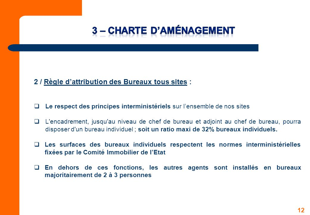 3 – Charte d'aménagement
