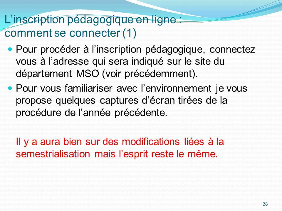 L'inscription pédagogique en ligne : comment se connecter (1)