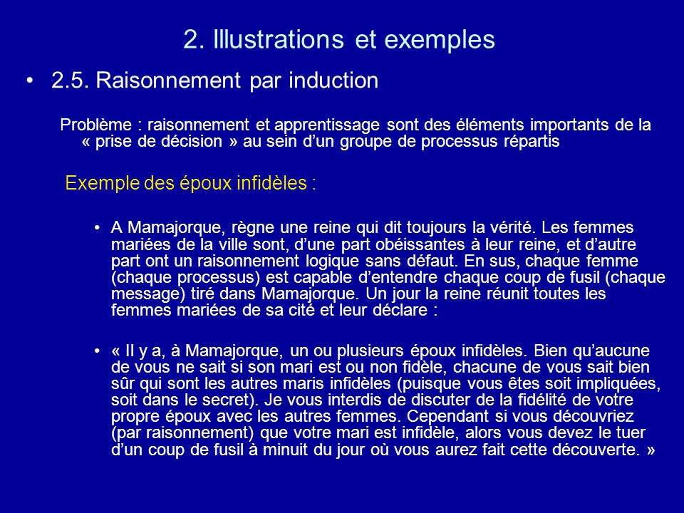 2. Illustrations et exemples