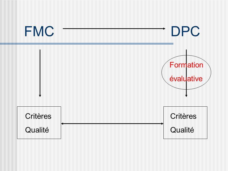 FMC DPC Formation évaluative Critères Critères Qualité Qualité