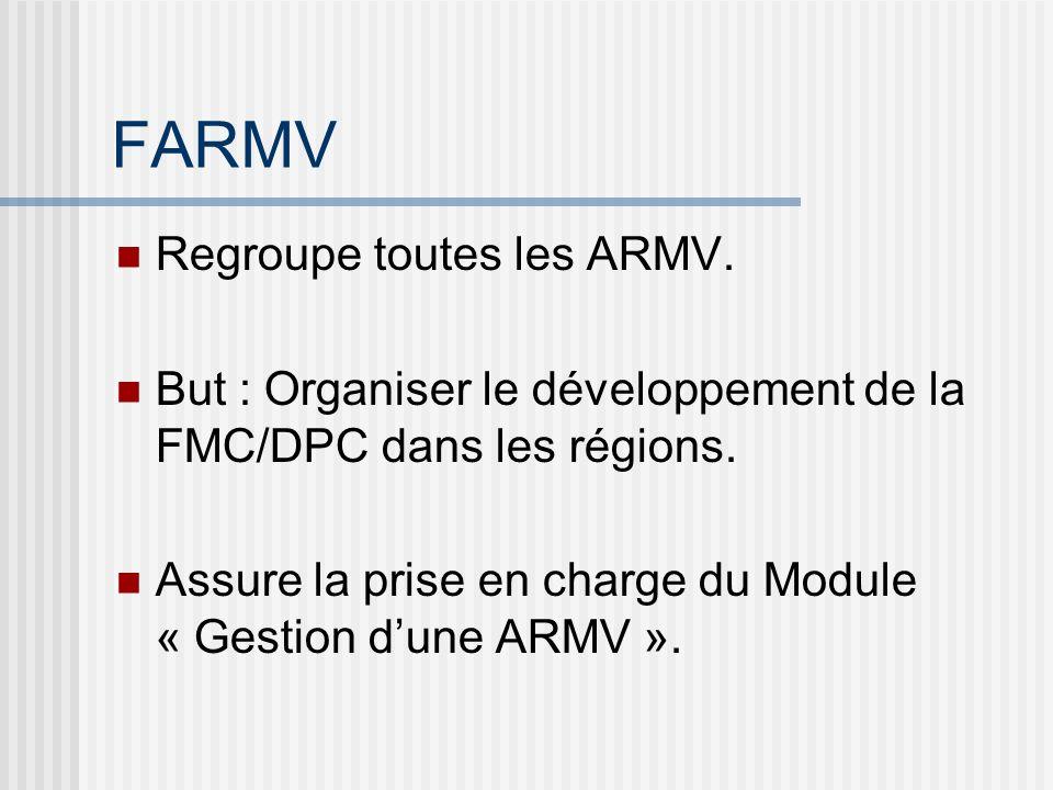 FARMV Regroupe toutes les ARMV.
