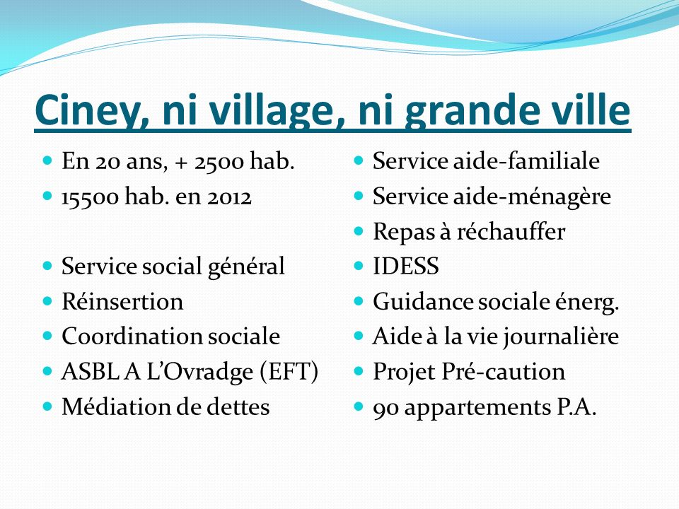 Ciney, ni village, ni grande ville