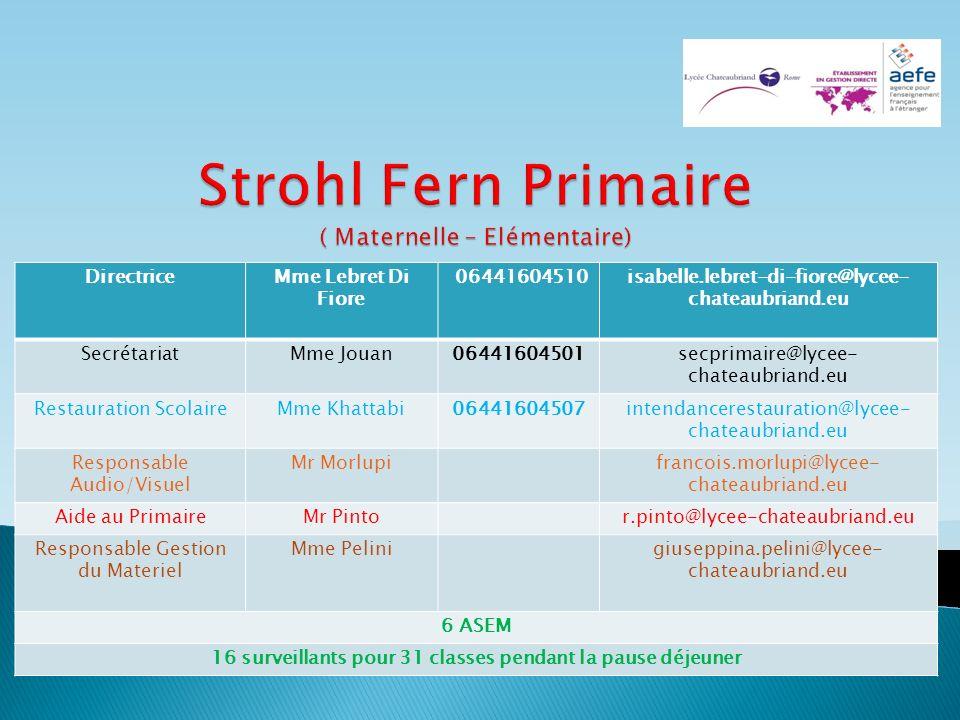 Strohl Fern Primaire ( Maternelle – Elémentaire)