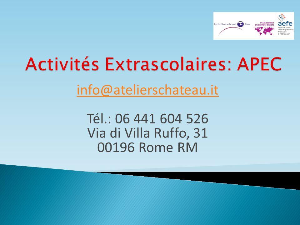 Activités Extrascolaires: APEC
