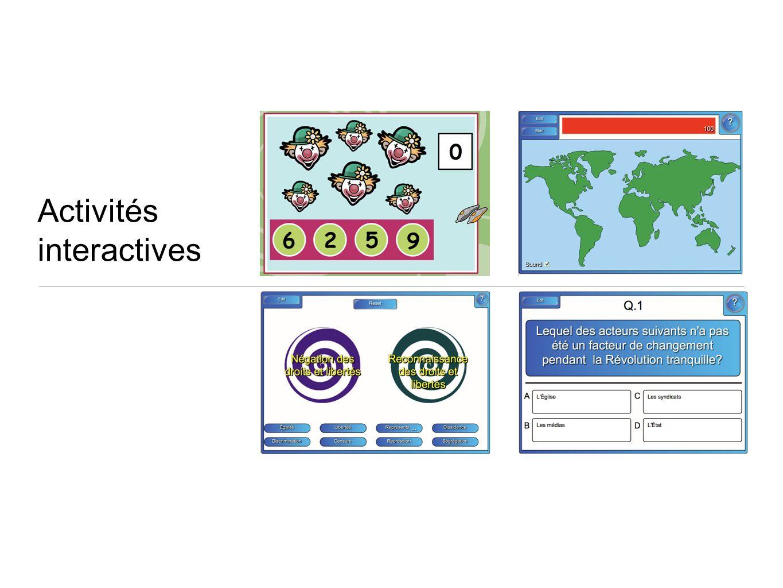 Activités interactives