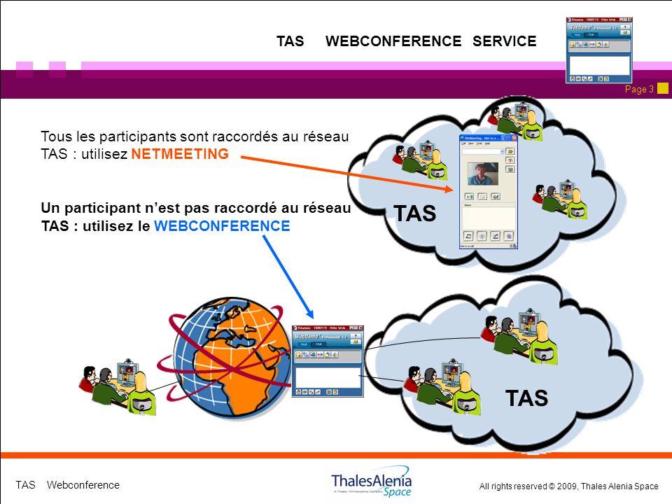 TAS TAS WEBCONFERENCE SERVICE