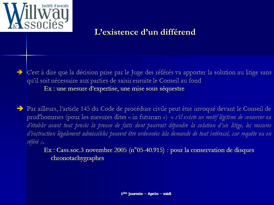 L'existence d'un différend