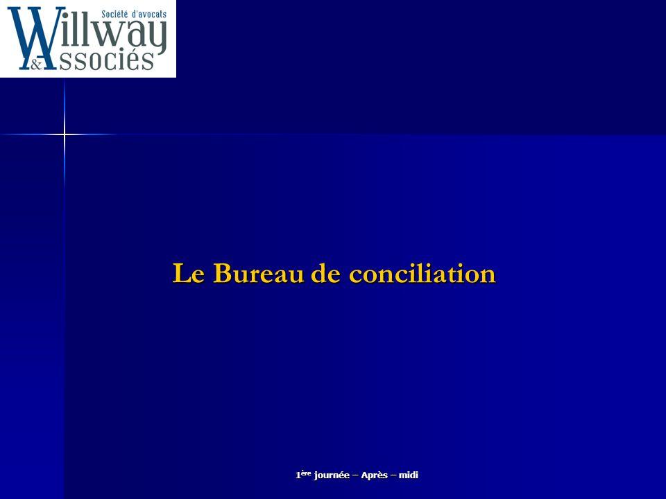 Le Bureau de conciliation