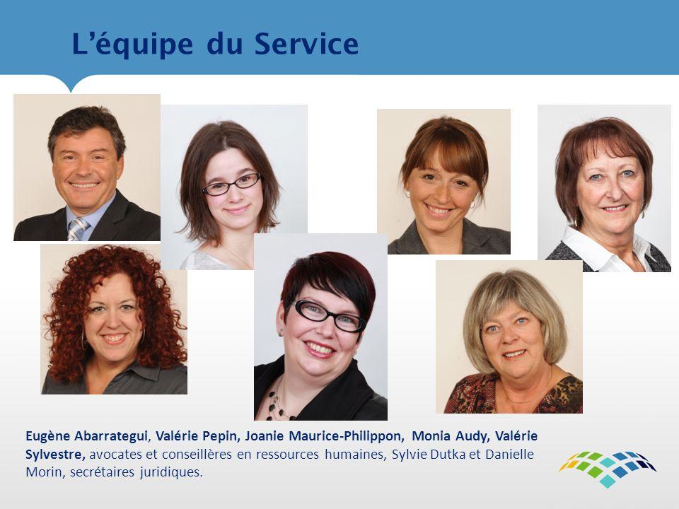 L'équipe du Service