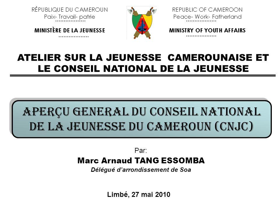 Marc Arnaud TANG ESSOMBA Délégué d'arrondissement de Soa