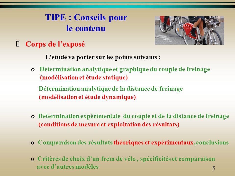 TIPE : Conseils pour le contenu